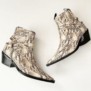 ANINE BING Harris ankle boot Harness Snake Python